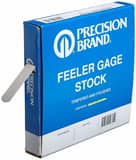 Precision Brand Products 0.002 x 1/2 in. x 25 ft. Spring Steel and High Carbon Steel Feeler Gage in Blue P19175