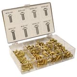 Jones Stephens 200-Piece Brass Bibb Screw Kit JJ40153