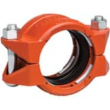 Victaulic Style 99 2-1/2 in. Plain End Orange Enamel Carbon Steel Coupling VL024099PE0