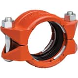 Style 99 3-1/2 in. Plain End Orange Enamel Carbon Steel Coupling VL034099PE0