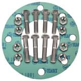 Cowtown Bolt & Gasket 150# Zinc Flange Kit with Non-Asbestos Ring Gasket FRG150