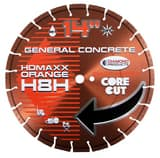 Diamond Products Core Cut™ H.D. Maxx Orange 14 in. UNV H8H Heavy Duty High Speed Diamond Blade D53742