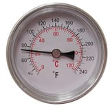 Jones Stephens 40-240 Degree F 1/2 in. Dial Thermometer MIP Center Back Mount JJ40703