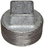 Threaded 125# Galvanized Malleable Iron Cored Plug IGCPG at Pollardwater