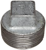 Threaded 125# Galvanized Malleable Iron Cored Plug IGCP at Pollardwater