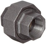 Ground Joint 150# Iron and Brass Black Malleable Union IB150U