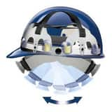 Fibre Metal Products Cap Hard Hat in White FE2SW01A000