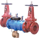 Zurn Wilkins 375 4 in. Epoxy Coated Ductile Iron Flanged x Grooved 175 psi Backflow Preventer W375OSYP