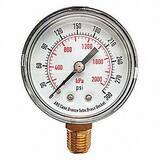 McDaniel Controls 4-1/2 in. 300 psi Pressure Gauge MMPBSCGMGF