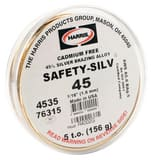JW Harris Safety-Silv® 45 1/16 in. General Purpose Silver Brazing Alloy (156g) H4535