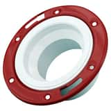 4 x 3 in. Hub Adjustable Closet and Reducer Schedule 40 PVC DWV Flange with Ring PDWVCFAMRPM