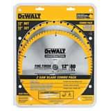 DEWALT 2-Piece Circular Saw Blade Set DDW3128P5
