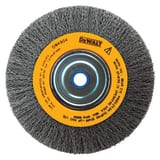 8 CRIMP BENCH WIRE WHEEL 5/8 ARBOR WIDE FACE .014 DDW4907 at Pollardwater