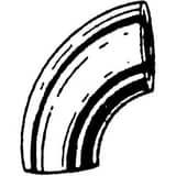 1-1/2 in. Weld Standard Long Radius Carbon Steel 90 Degree Elbow GW9J