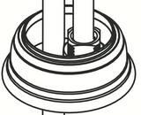 Moen Single Mount Escutcheon in Oil Rubbed Bronze for Kingsley 6102 Model Low Arc Bathroom Faucets M118882ORB