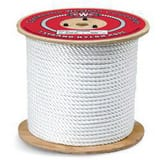 Continental Western Corporation 600 ft. x 1/2 in. 3-Strand Nylon Rope in White C315055