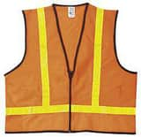 River City XL Size Vest with Reflect Stripe in Orange RVA221RXL