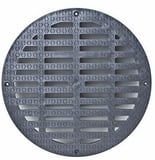 K&K Concrete Products 14 in. Cast Iron Solid Cover for Type 40 Catch Basin KCAS53A