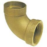 1-1/2 in. Copper x FNPT DWV Bronze 90 Degree Elbow CCDWVF9J