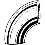 Weld Extra Heavy Long Radius Carbon Steel 90 Degree Elbow DWX9
