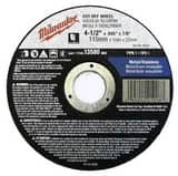 Milwaukee 4-1/2 in. X .045 in. X 7/8 in. Aluminum Oxide Cut-Off Wheel M49944500
