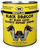 WHITLAM Black Dragon 1 gal Asphalt Paint in Black WBD1