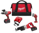 Milwaukee Cordless 28V Reciprocating Saw 3 Tool Kit M092823