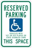Brady Worldwide 18 x 12 in. Handicapped Reserved Parking Sing with Picture B91388