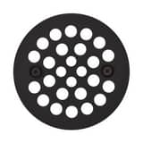 Jones Stephens 4-1/4 in. Round Stamped Strainer with Screw for D41001 and D41603 Shower Drains in Oil Rubbed Bronze JD4110RB