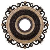 Minka-Aire Napoli™ Ceiling Fan Medallion in Sterling Walnut MCM7022STW