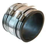 Fernco 8 in. Clay x Asbestos Cement Fiber and Ductile Iron Flexible Coupling F100388RC