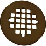 Signature Hardware 4- 1/4 in. Diameter Snap- In Tub/ Shower Drain Cover with 304 Stainless Steel Oil Rubbed Bronze SH602ORB