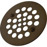 Signature Hardware 4- 1/4 in. Diameter Screw- InTub/ Shower Drain Cover with 304 Stainless Steel Oil Rubbed Bronze SH603ORB