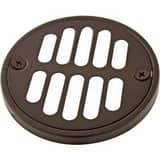 Signature Hardware 3- 5/8 in. Diameter Tub/ Shower Drain Cover with 304 Stainless Steel Oil Rubbed Bronze SH604ORB