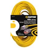 RAPTOR® 12/3 Sjtw 100 ft. Hd Extension Cord Lgtd Yellow RAP31201 at Pollardwater