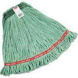 Rubbermaid Web Foot® 1 x 6 in. M Size Cotton and Fiber Wet Mop in Green RFGA11206GR00