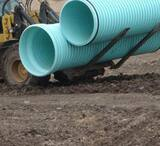 Diamond Plastics 14 ft. Sewer PVC Drainage Pipe DCORR21