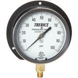 H.O. Trerice 4-1/2 x 1/4 in. 0-60 psi Pressure Gauge in Black T500XB4502LA100