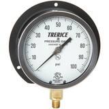 H.O. Trerice 4-1/2 x 1/4 in. 0-200 psi Pressure Gauge in Black T500XB4502LA130