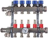 Viega North America 1-1/4 x 1 in. 9-Outlet Stainless Steel Manifold Flowers Meter V15907