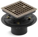 KOHLER ClearFlo™ 3 in. Threaded Plastic Vibrant® Brushed Bronze Shower Drain K9136-BV
