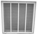 PROSELECT® 12 x 24 in. FG Return Filter Grill with 1/3 in. White Fin PSFG3W2412
