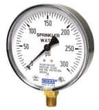 WIKA Air/Water Bourdon Tube Pressure Gauge 0-300# W4280818