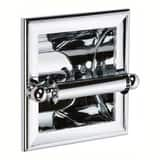 Ginger USA Columnar Single Post Recessed Toilet Paper Holder Polished Chrome G4528PC