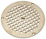 Zurn 6 x 6 in. Round Grid Strainer Nickel Bronze ZPN4006BSTR
