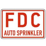 Allied Rubber & Gasket 6 in. Aluminum Fire Department Connection Sprinkler Sign in Red and White A5010191