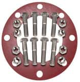 FNW 2 in. Zinc 150# Red Rubber Full Face 1/8 Flange Gasket w/(4) Nuts/Bolts FNWNBGZ1RF8K at Pollardwater