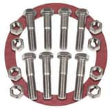 FNW 1/8 in. Zinc Red Rubber Ring Flange Package FNWNBGZ1RR8