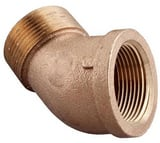 Merit Brass MNPT x FNPT Brass Street 45 Degree Elbow IBRLFS4