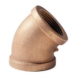 Merit Brass FNPT Brass 45 Degree Elbow IBRLF4